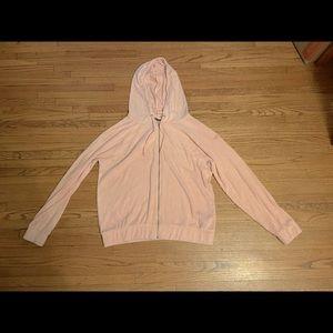 Roxy brand pink corduroy hoodie